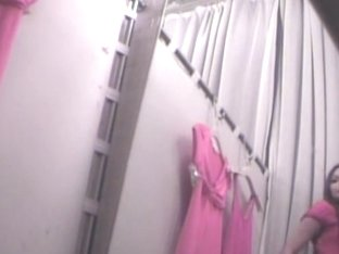 Real Barbie in pink dress change room voyeur erotica