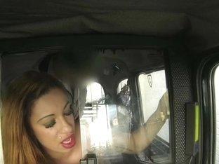 Long-haired slut hammered by driver in fake taxi