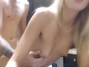 Concupiscent golden-haired GF acquires screwed hard and receives unloaded