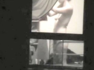 Real window voyeur erotic with my seducing nude neighbor