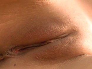 Naughty Franciska fucks her shaved pussy
