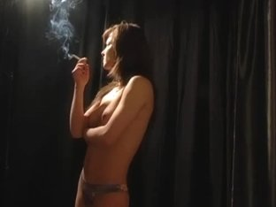 SmokingBunnies: Smoking Girl Gets Naked