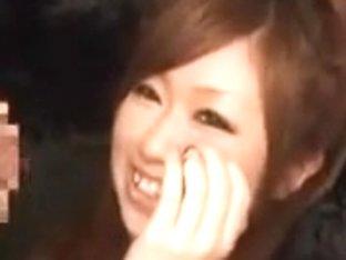 Cute Japanese Slut Jerks Off Two Cock