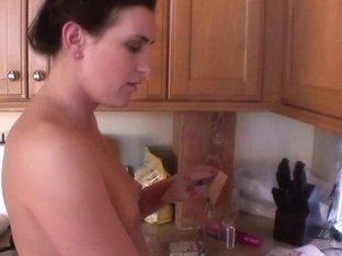 Amateur Brunette Kitchen Masturbation And Peeing Kinky
