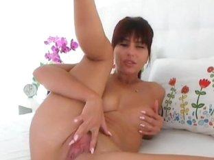 Horny Russian Brunette Masturbation
