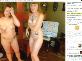 Kinky emo sluts in bondage sex on webcam