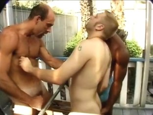 Two Daddies Bareback Young Guy