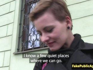 Petite euro amateur tasting fake agents cum