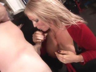 Crazy pornstar Alura Jenson in incredible handjob, blowjob sex scene