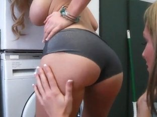 Awesome chick with big ass penetrates her friend