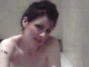 Hot goth chick in the bath