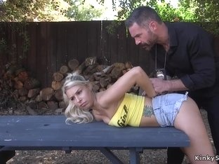 Fake cop arests blonde and fucks bdsm