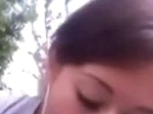 girlfriend blowing and swallowing in the park