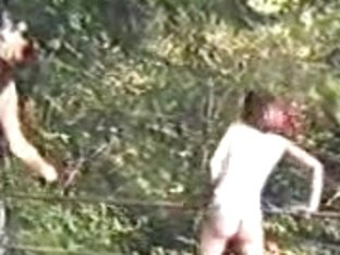 Redheaded teen slave girl tortured in the wild