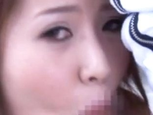 Teen Riri Yuzuna´s Face Jizzed On After A Blowjob