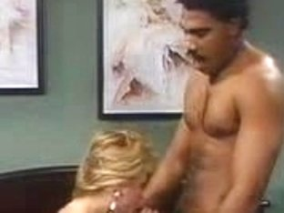 Sexy interracial vintage porno with a blonde bitch