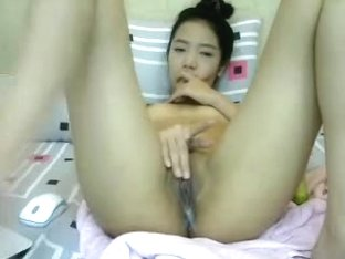 Dildoing my Asian twat online