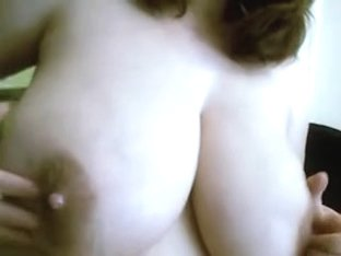Playing with my huge sexy bosoms
