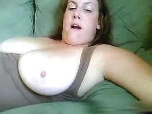 Busty wife plays on a webcam show