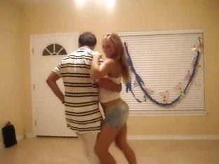 Flawless lambada girl's dancing ass
