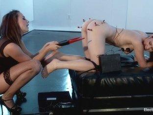 Ballerina Gets Electro Fucked!