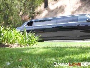 Spoiled brat babe Carolina Sweets fucked hard in limousine