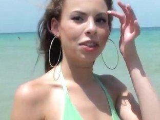 Sweet darling Mary looks amazing in a bikini