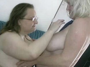 Bulky grannies in lesbian action