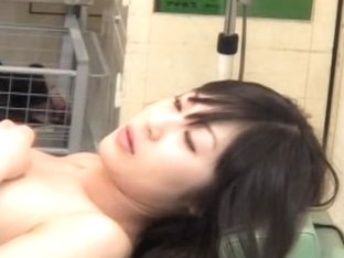 Japanese gyno taking the sample of a vixen.s squirt