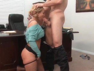 Naughty Mellanie Monroe drilled in her office