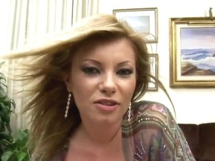 Slutty blonde Donna Bell gets naughty in close up