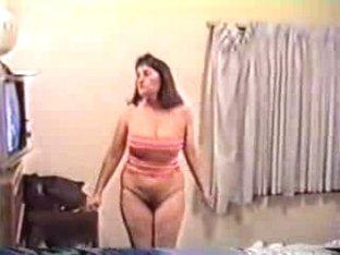 Mature squeezes hot boobs