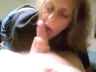 Grandma cum in face hole blow job