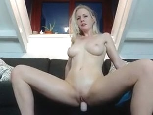 Super hot Golden-Haired Dutch angel riding her sybian toy