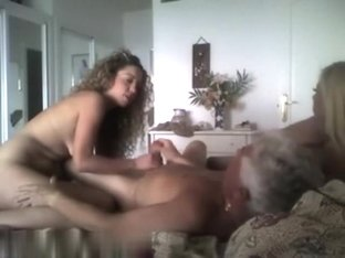 Older dude fucking his girl and wife