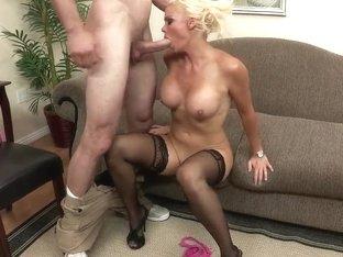 Jordan Ash fucking his neighbourhood busty blonde Rhylee Richards