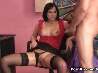 Incredible pornstar in Exotic Stockings, Big Tits xxx video
