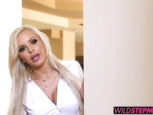 MILF Nina Elle and Elsa Jean get to share a big stiff dick