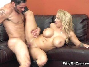 Best pornstars Alyssa Lynn, Damon Dice in Exotic Blonde, MILF sex clip