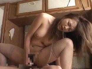 Horny Japanese chick Marie Kurosawa in Exotic Big Tits, Stockings/Pansuto JAV video