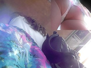 Fat ass appears in this wonderful upskirt video