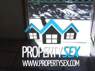 PropertySex Absolutely Stunning Blonde Agent Fucks Renter in Apartment