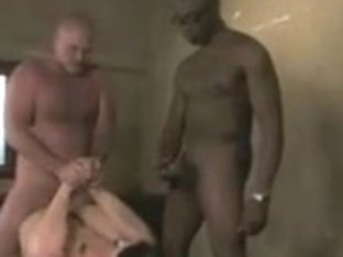 BDSM clip of slut fucking in an mmf threesome