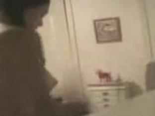I caught my cute girl fully nude. Hidden cam