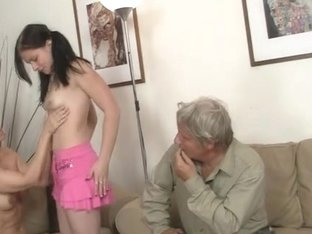 His mommy toying whilst daddy fucking his GF