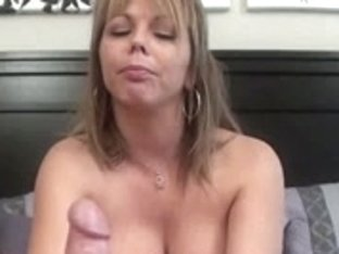 Perspired Footjob and Cum inside her shoe.