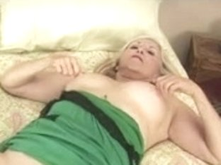 Blond Granny Plays with Herself