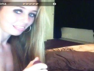 Blond Verona masturbates in cam