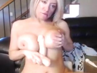 Getting excited in my webcams amateur video clip