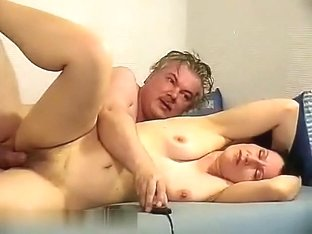 Mature woman is fucking with her husband